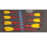 Набор отверток диэлектрических шлиц/РН в ложементе, 7 предметов, тип 163-229, HAZET