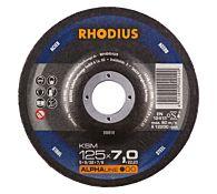 Круг шлифовальный по стали KSM 230x7,0х22,23 мм, RHODIUS