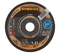 Круг отрезной INOX прямой XT38 125 x 1,0 x 22,23, RHODIUS