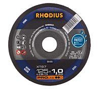 Круг отрезной по стали прямой XT67 125 x 1,0 x 22,23, RHODIUS