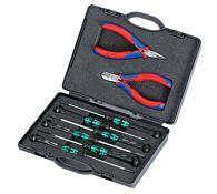 Набор инструментов для электроники, 8 предметов, kn-002018, KNIPEX