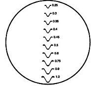 Сетка накладная, метрическая резьба 0,25-1 мм, 176-109, MITUTOYO