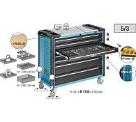 Тележка инструментальная Assistent 817x503x1025 мм, тип 179XXL-7, HAZET