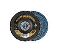 Круг шлифовальный лепестковый, изогнутый LSZ F1 125x22,23 мм, P120 RHODIUS