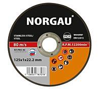 Круг отрезной по стали и нержавеющей стали NT-PRO 40 125X1X22,2, NORGAU