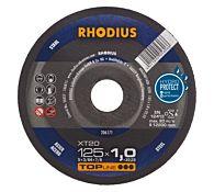 Круг отрезной по стали прямой XT20 180 x 1,5 x 22,23, RHODIUS