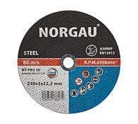 Круг отрезной по стали NT-PRO 30 230X3X22.2, NORGAU