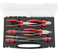 Набор губцевых инструментов с отвертками, 7 предметов, FORMAT