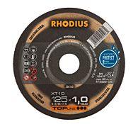 Круг отрезной INOX прямой XT10 125 x 1,0 x 22,23, RHODIUS