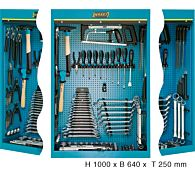 Шкаф инструментальный с инструментом 640x250x1000 мм, 116 предметов, тип 111/116, HAZET