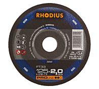 Круг отрезной по стали, прямой FT33 115 x 2,0 x 22,23, RHODIUS