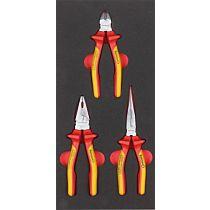 Набор губцевых инструментов VDE в ложементе, 3 предмета FORMAT