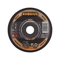 Круг отрезной по стали и нержавеющей стали, прямой FT38 230 x 2,5 x 22,23, RHODIUS