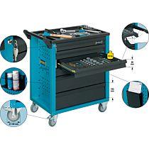 Тележка инструментальная Assistent 779,5x496x915 мм, 133 предмета, тип 177-6/133, HAZET