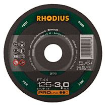 Круг отрезной по камню прямой FT44 125 x 3,0 x 22,23, RHODIUS