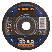 Круг отрезной по стали, прямой FT33 115 x 3,0 x 22,23, RHODIUS
