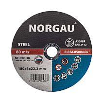 Круг отрезной по стали NT-PRO 30 180X3X22.2, NORGAU