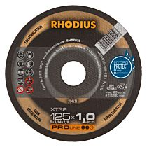 Круг отрезной INOX прямой XT38 230 x 1,9 x 22,23, RHODIUS