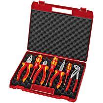 Набор губцевых инструментов с отвертками VDE, 7 предметов, kn-0021150, KNIPEX