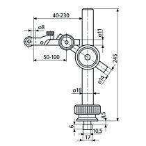 Штатив механический 815 XN без опоры MAHR