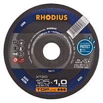 Круг отрезной по стали прямой XT20 115 x 1,0 x 22,23, RHODIUS